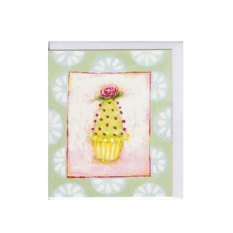 Mini Karte Design Aspegren Muffin with a Rose