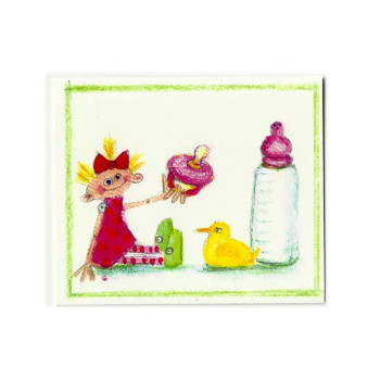 Mini Karte Design Aspegren Girl with a Dummy