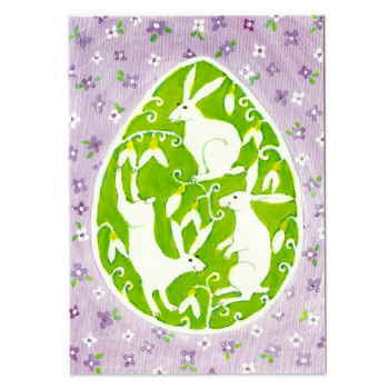 Ostern-Karte Design Aspegren Easter Bunnies