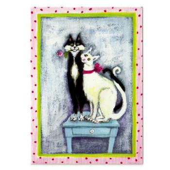 Postkarte Design Aspegren Denmark Cats