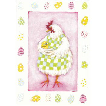 Ostern-Karte Design Aspegren Hen with Egg