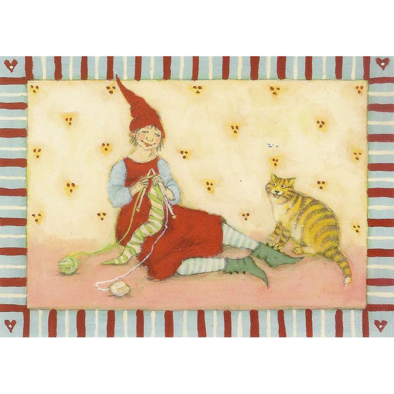 Postkarte Design Aspegren Denmark Knitting Pixy