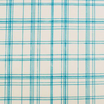 Voksdug ftalatfri PVC Design Aspegren Denmark Check Aqua