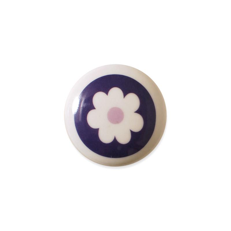 Mini Knob Design Aspegren Denmark Flower Lilac