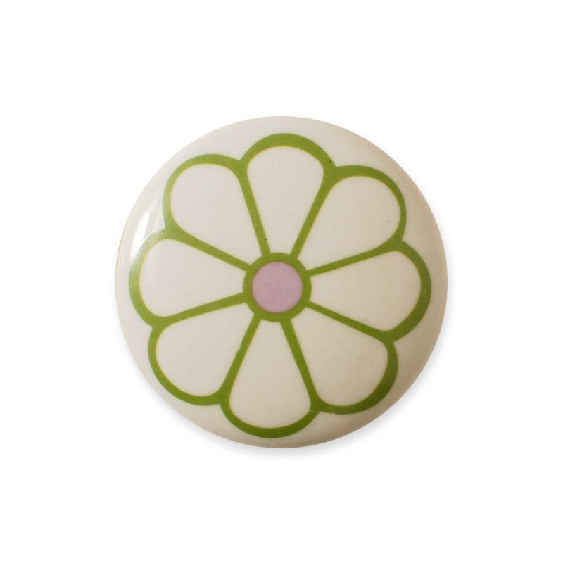 Midi Knob Design Aspegren Denmark Lucy Flower Green