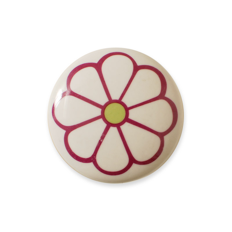Midi Knob Design Aspegren Denmark Lucy Flower Red
