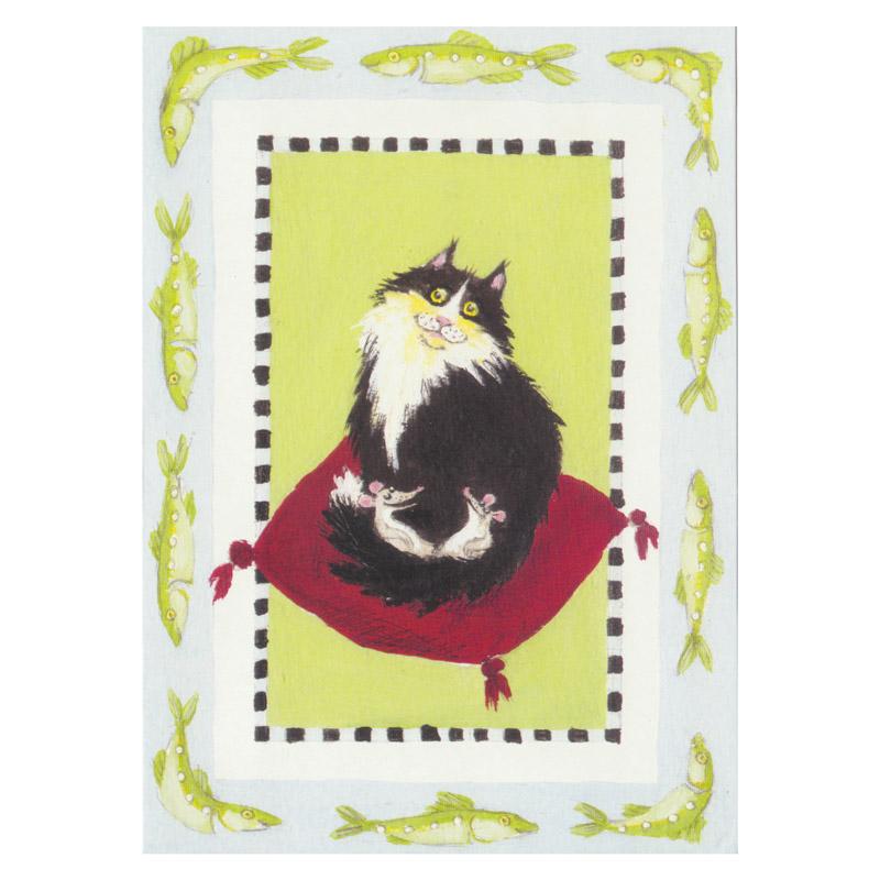 Card Design Aspegren Denmark Cat with Mice