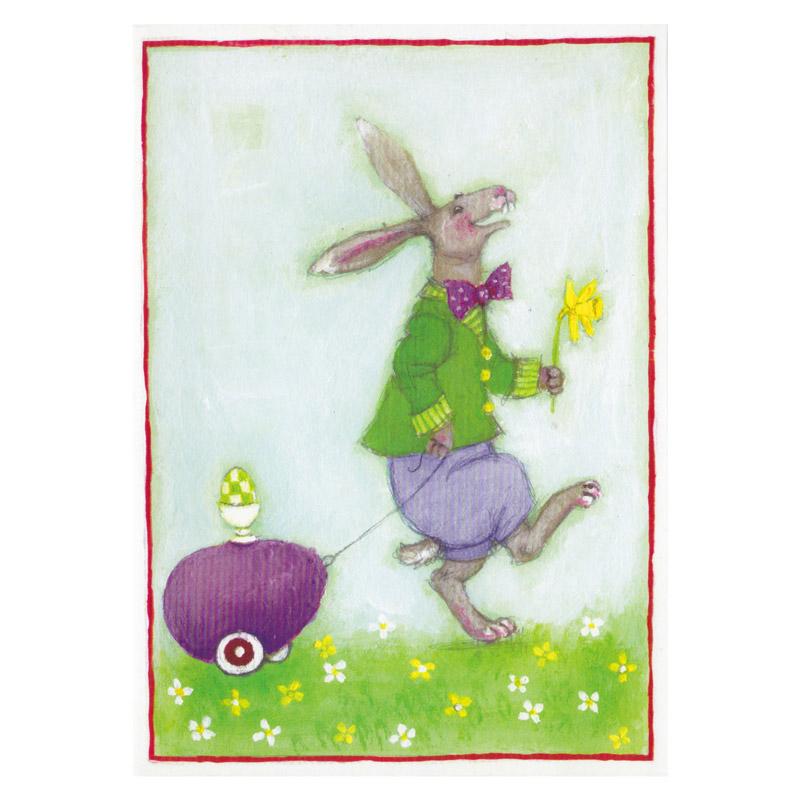 Kort Design Aspegren Hare with Eggcart