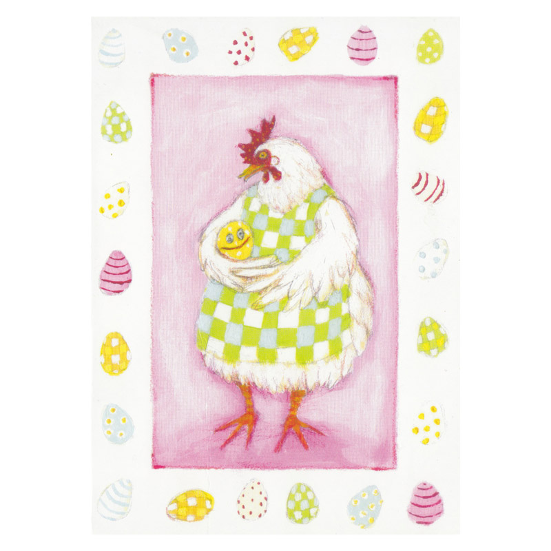 Postkort Design Aspegren Hen with Egg