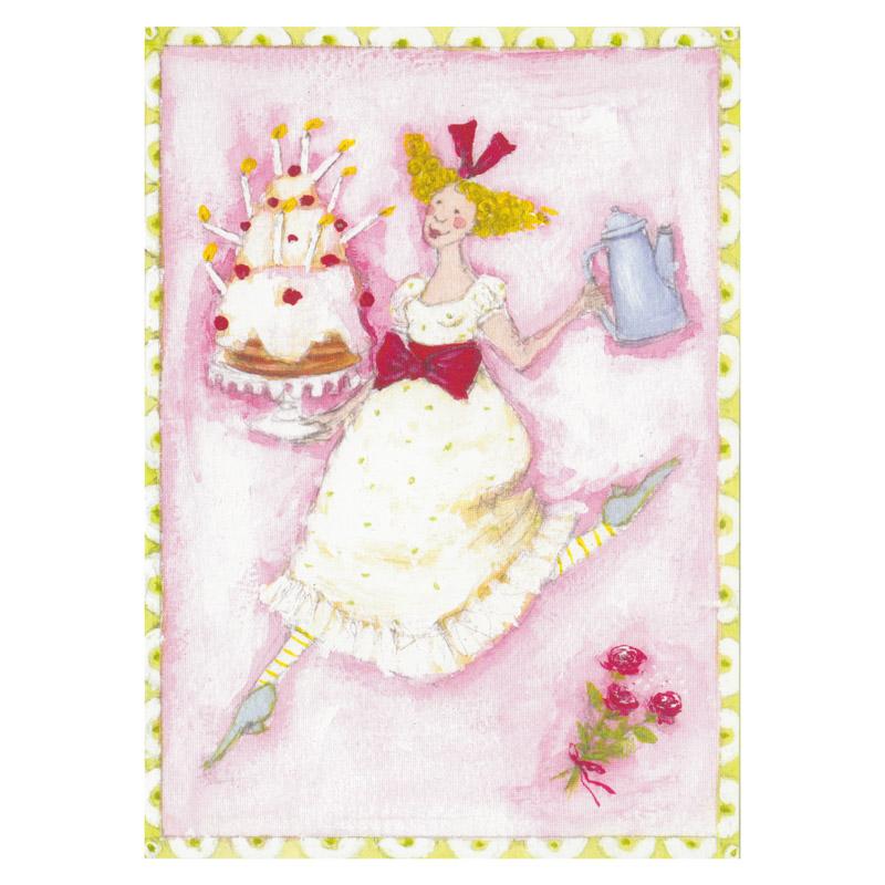 Kort Design Aspegren Girls Birthday Cake
