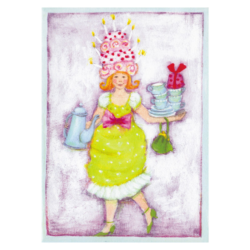 Card Design Aspegren Lady with a Cookies Hat