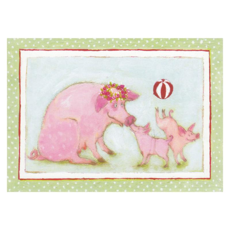 Kort Design Aspegren Denmark Piggy Family