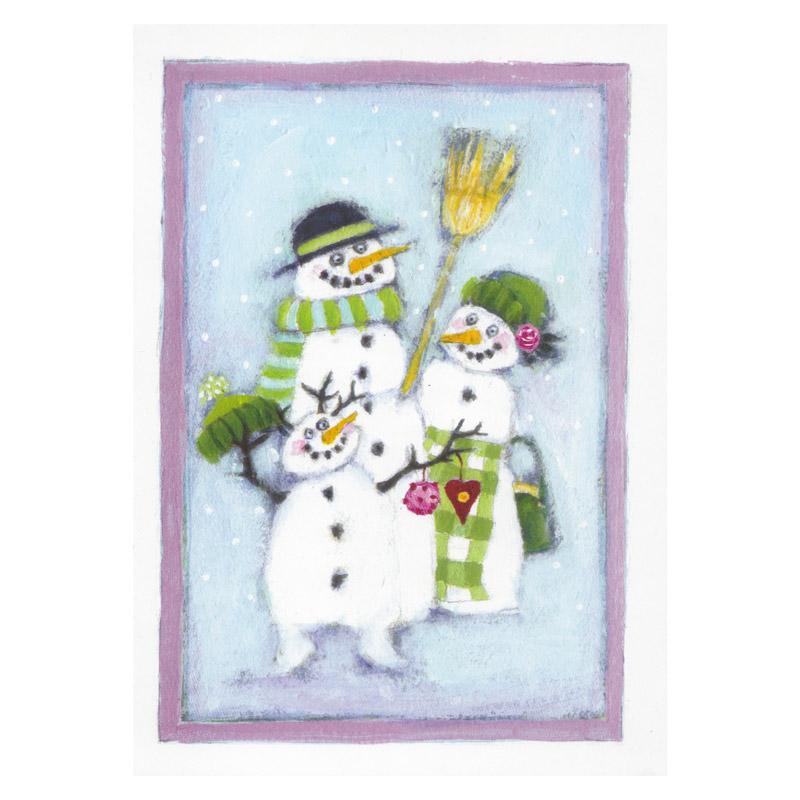 Kort Design Aspegren Snowman Family