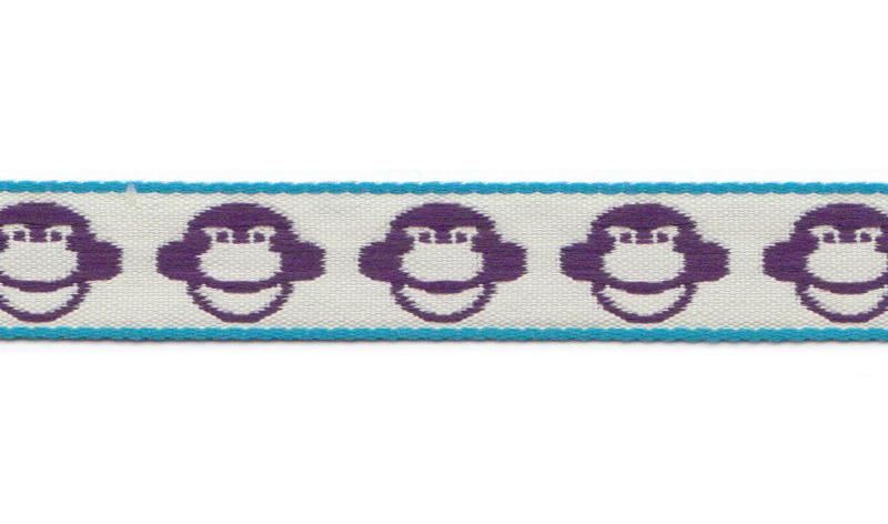 Bånd på spole Design Aspegren Monkey Lilac