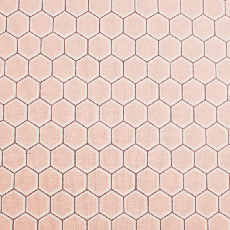 Voksdug ftalatfri PVC Design Aspegren Denmark Honey Comb Rose