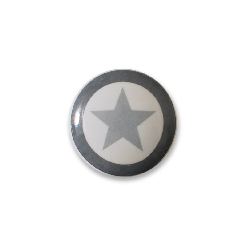 Knop Mini Design Aspegren Denmark Solide Star Grey