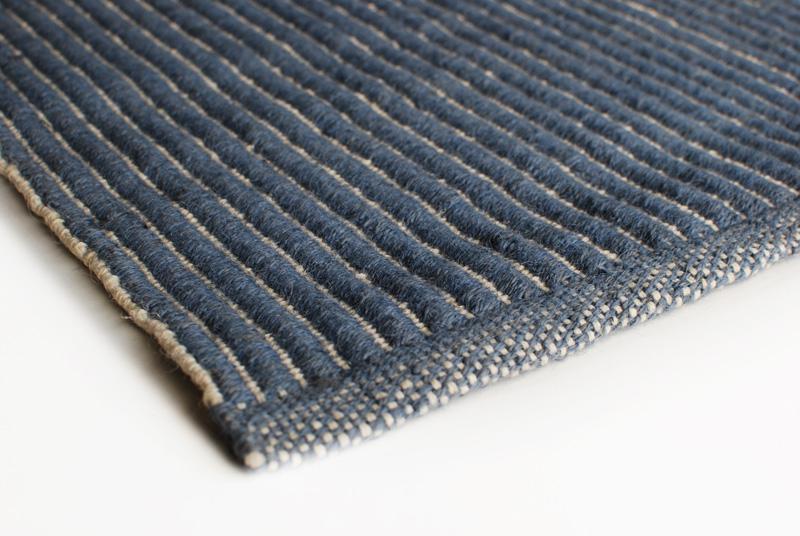 Sisalteppich Design Aspegren Blue 70x150