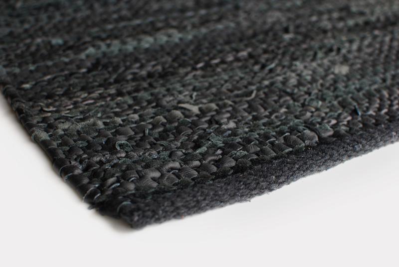 Lædertæppe Design Aspegren Denmark Black 70x130