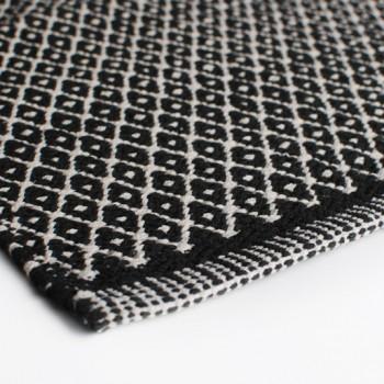 Gulvløber Bomuld Design Aspegren Denmark Rhombe Black 70x130