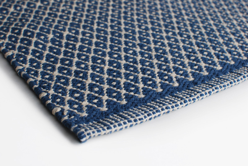 Gulvløber Design Aspegren Denmark Rhombe Blue 70x130