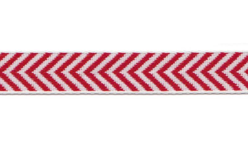 Bånd på Board Design Aspegren Denmark Herringbone Red
