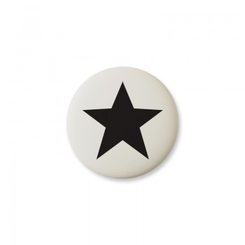 Knop Mini Design Aspegren Denmark Star Black Matt