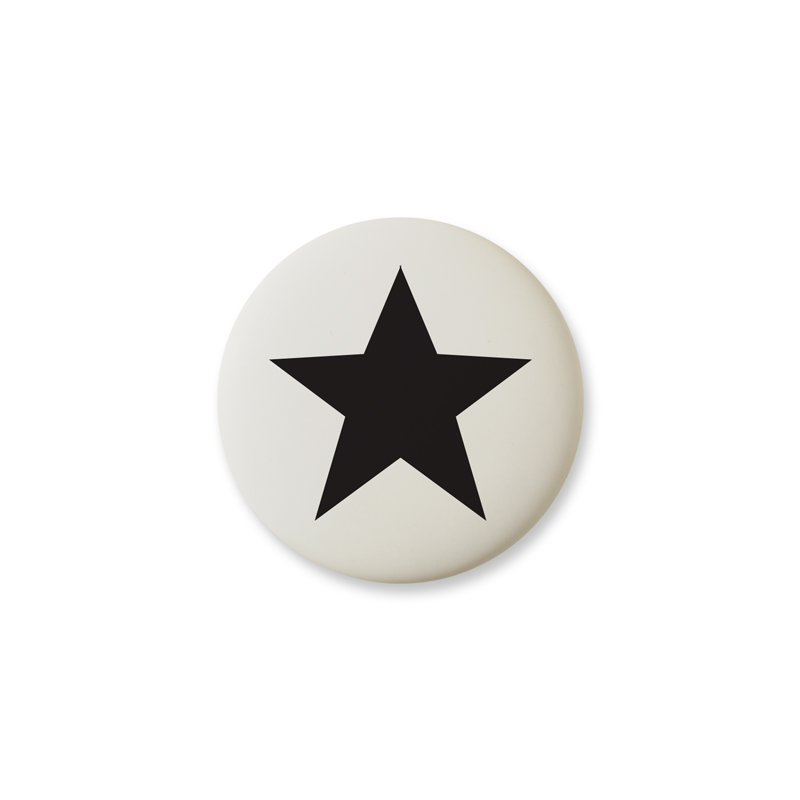 Knop Mini Design Aspegren Denmark Star Black Matt
