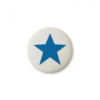 Knop Mini Design Aspegren Denmark Star Blue Matt