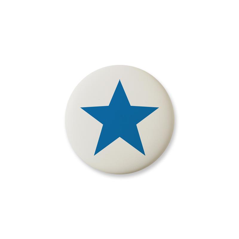Knop Mini Design Aspegren Denmark Star Blue Matt