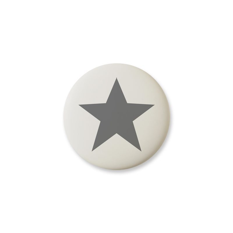Knob Design Star Gray Mini Matt