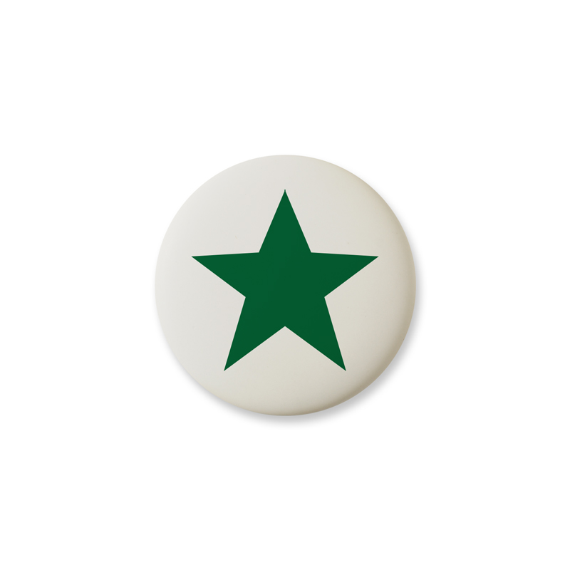 Knop Mini Design Aspegren Denmark Star Green Matt
