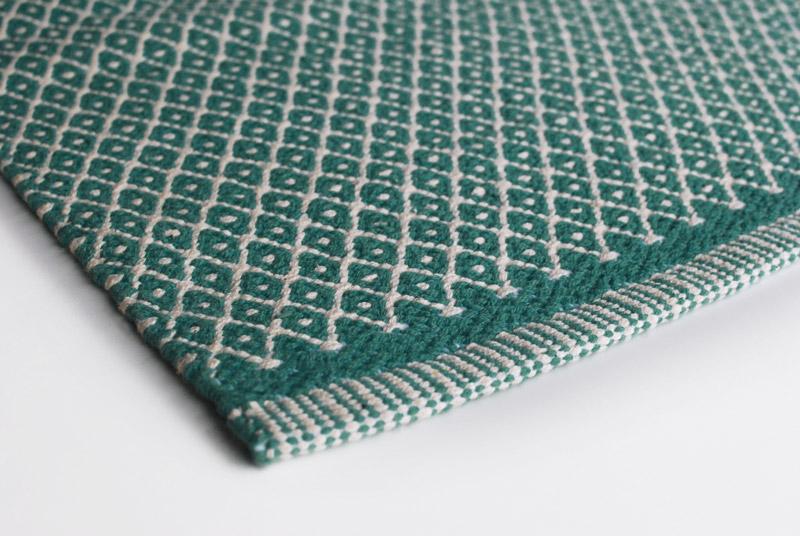 Gulvløber Design Rhombe Ocean Green 70x130