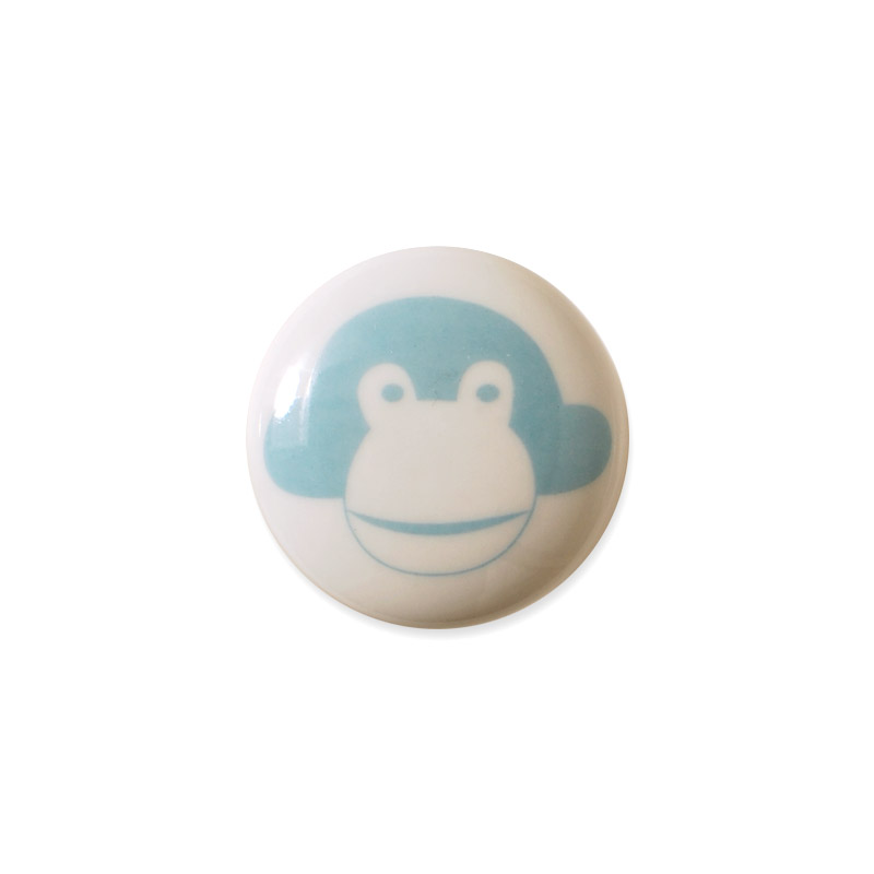 Knop Mini Design Aspegren Denmark Monkey Blue