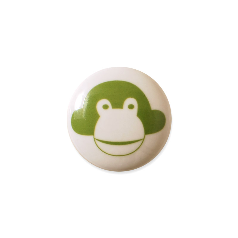 Knop Mini Design Aspegren Denmark Monkey Green