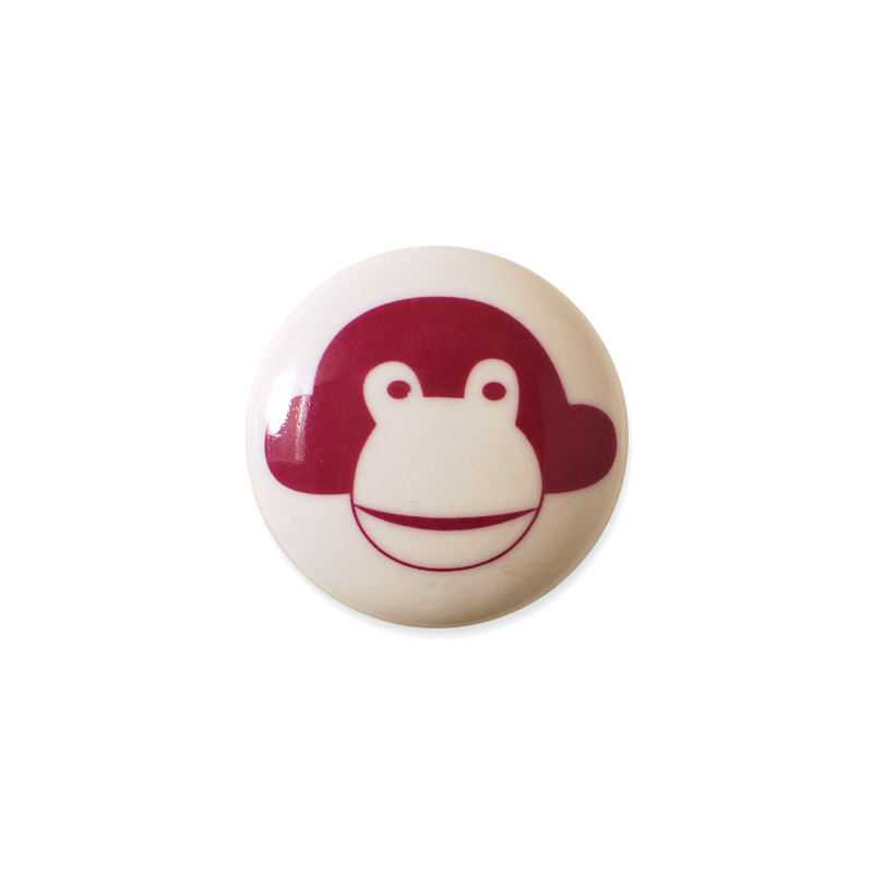 Knop Mini Design Asprgeren Denmark Monkey Red