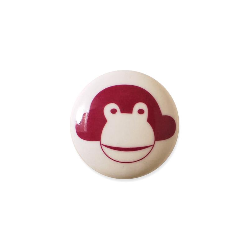 Knop Mini Design Asprgeren Denmark Monkey Red