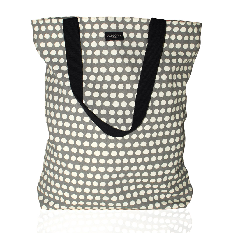 Shopper Bag Design Aspegren Denmark Dot Gray