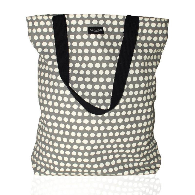 Shopper Bag Design Aspegren Denmark Dot Gray