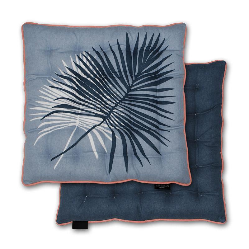 Siddehynde Design Aspegren Denmark Futon Plam Blue