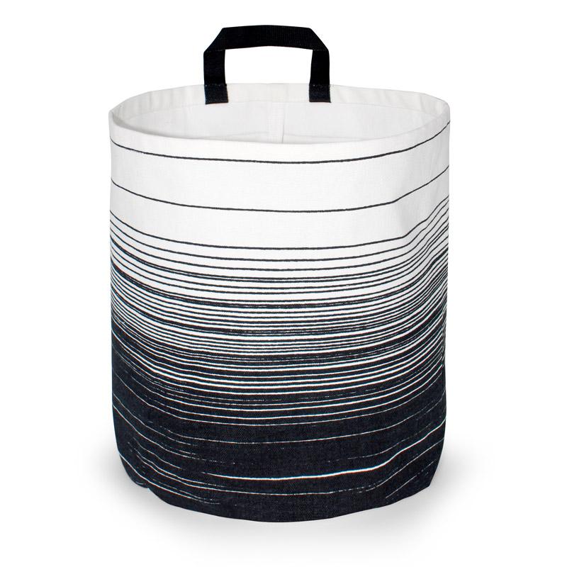 Storage Basket Large Design Cloud Black
