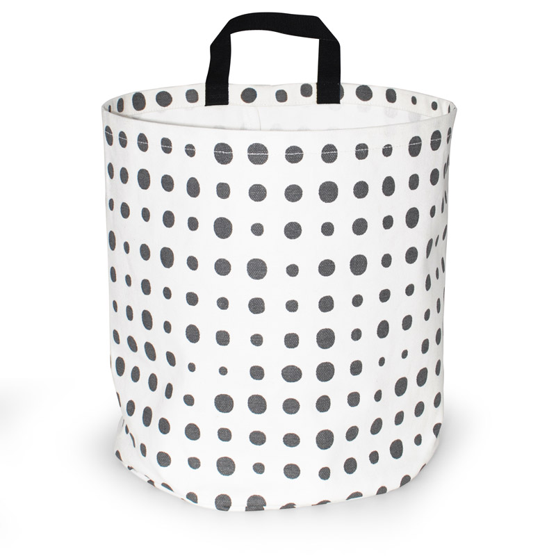 Opbevaringskurv Design Storage Basket Large Pearl Gray