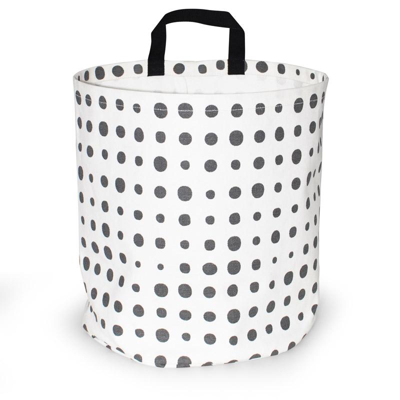 Storage Basket Large Design Pearl Gray