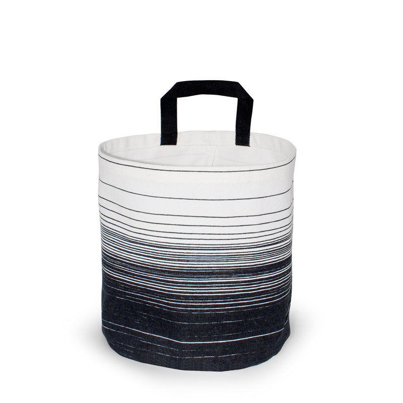 Storage Basket Small Design Cloud Black