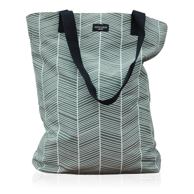 Kanvas indkøbstaske Design Aspegren Denmark Bag Herringbone
