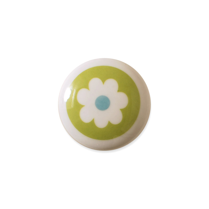 Knop Mini Design Aspegren Denmark Flower Green