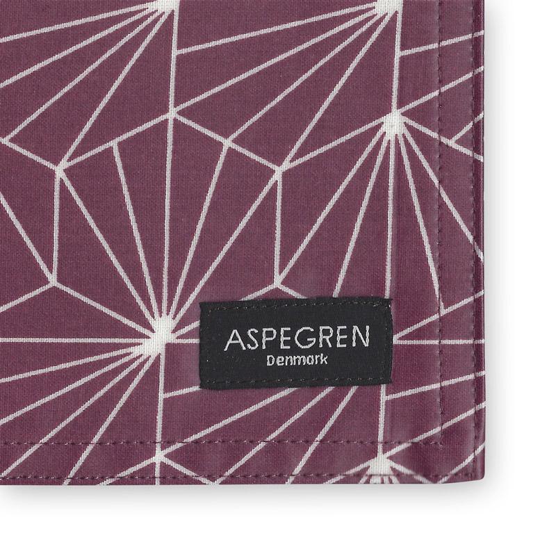 Dækkeserviet Design Aspegren Shell Ruby Red