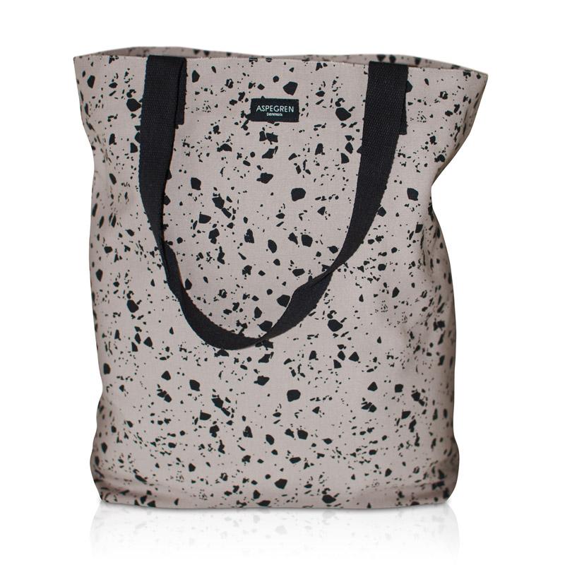 Shopper Bag Design Aspegren Terrazzo Gray