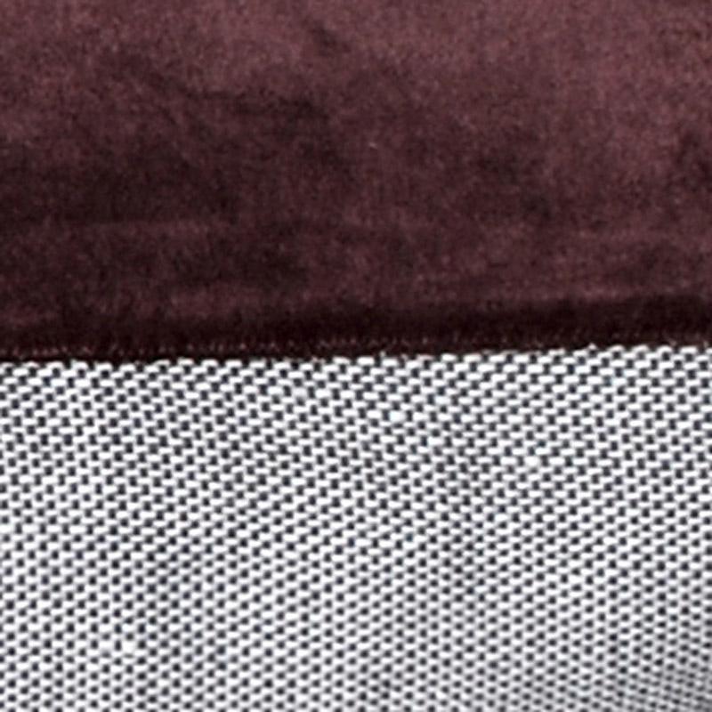 Cushion Velour Design Aspegren Solid Ruby Wine