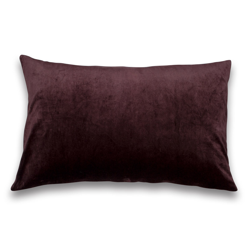 Kissen Velour Design Aspegren Solid Ruby Wine