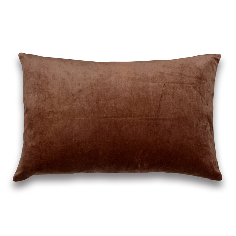 Kissen Velour Design Aspegren Solid Terracotta
